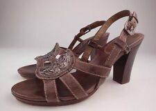 COLE HAAN Brown Leather Slingback Heel Sandals Size 6