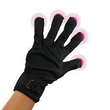 Black Right Hand Five Finger Vibrating Massage Glove Waterproof Caress Glove