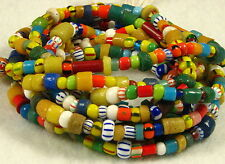 2 Long Strands Mixed CHRISTMAS or LOVE Beads Glass African Trade Beads 2 to 10mm
