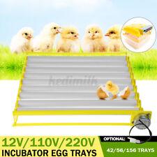 156/56/42 Eggs Incubator Turner Tray Chicken Duck Goose Birds Incubator Brooder