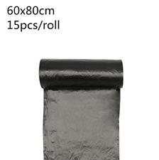 30pcs 60X80Cm Strong Large Commercial Kitchen Trash Bag Garbage Bag Black New
