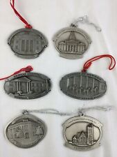 Howe House Pewter ornaments Newnan Georgia set of 6 collectible