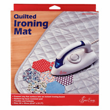 Sew Easy Quilted Ironing Mat 60cm x 55cm, Ideal For Travel & Crafts