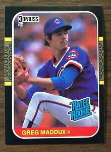 1987 Donruss #36 GREG MADDUX Rookie Chicago Cubs HOF  MINT  F6020209