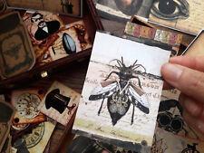 50 Vintage Steampunk Ephemera Gypsy Paper Scrapbook kits,Junk journal card