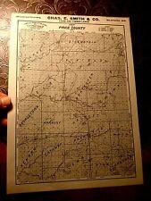 1914 Chas E. Smith Milwaukee WI Price County advertising MAP