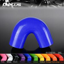 """1 3/8"""" TO 1 3/8"""" Hose 35MM 135 Degree Turbo Silicone Elbows Coupler Pipe  Blue"""