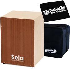 Sela SE018 Snare Cajon Bausatz Medium + KEEPDRUM Tasche + Sitzpad
