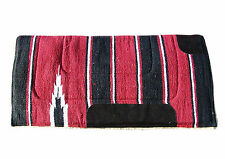 WESTERN HORSE SADDLE PAD/NUMNAH PAD COWBOY FLEECE IN RED 30X30 SIZES
