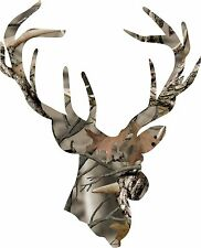 Large Back Glass Camo Deerhead Buck Decal ( all stickers can be made yeti