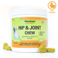 Hip and Joint Duck Soft Chew Supplement Advanced Mobility Blend with Glucosamine