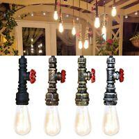 Pipe Lighting Steampunk industrial vintage style Ceiling pendant light valve E27