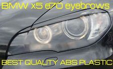 BMW x5 e70 eyebrows, headlight spoiler Genuine ABS plastic NEW lid brows TUNING