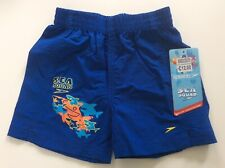 Speedo Baby Boys Blue Shark Swim Shorts, Age 1-2 Years, Bnwt