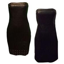 Knee Length Viscose Strapless Dresses for Women
