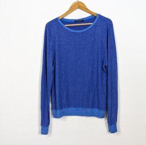 Wildfox Women's Baggy Beach Jumper Crewnecke Sweatshirt Blue Large
