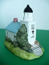 Vintage Miniature Country Village Church Figurine. Ron Gorndon Desigm 1987