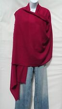 100% Cashmere|Himalayan|Shawl/Scarf|Lightweight|1 Ply|2 Pad|Handloomed|Deep Red