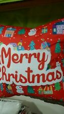 Merry Christmas Toss Throw Pillow Cushion Holiday Home Decor