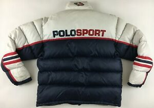 Polo Sport Ralph Lauren Technical down jacket puffer vintage 1990s navy Medium