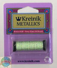Kreinik Metallic Thread - 12Yd Spool of #9194 Star Green VF #4 Braid