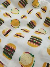 Hamburger Top Sheet - Kids Bedding  Pillowfort queen unused no package