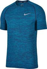 Nike Dri-Fit Knit SS Men's Running Shirt NEW 833562 433 Blue sz 2XL NEW $80