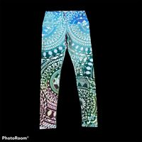 Om Shanti Chakra Diamons Eco-Friendly Performace Yoga Leggings Size S EUC