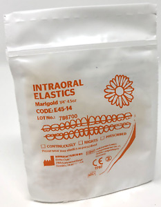 "Orthodontic Elastic Bands - 1/4"" 4.5oz Latex Elastics, Between Teeth, Braces"