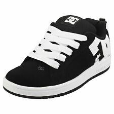 DC Shoes Court Graffik Kids Black White Skate Trainers - 5 UK