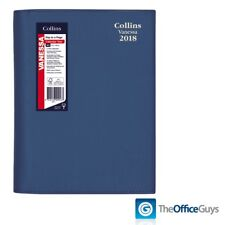 Collins® Vanessa Colours A5 Day to Page Diary 2018 Indigo Blue (185.V59-18)