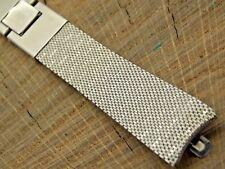 Vintage NOS Unused Kreisler Stainless Steel Watch Band 17.5mm Butterfly Clasp
