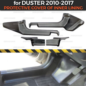 Protective covers carpet inner door sills for Dacia / Renault Duster 2010-2017