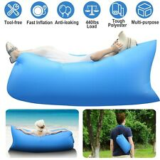 Inflatable Beach Chair Lazy Air Bed Camping Lounger Couch Chair Sleeping Bag
