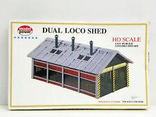 "MODEL POWER HO U/A ""DUAL LOCO SHED"" PLASTIC MODEL KIT #541"