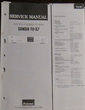 SANSUI TU-S7 Tuner service repair workshop manual (original)
