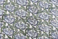 Indian Block Floral Printed Fabric Jaipuri Dress Sanganeri Cotton Fabric Sewing