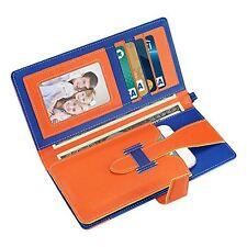Reiko 2 Tone Super Wallet Case Snap Button & Card Slots iPhone 6/6s - Orange Nav