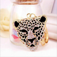 Mini Rhinestone  Animal Keyring Charm Pendant Purse Bag Key Ring Keychain
