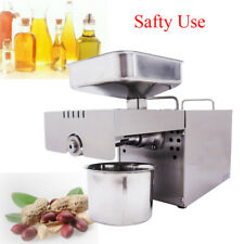 110V Commercial Use Automatic Oil Press Machine Stainless Steel Oil Expeller US
