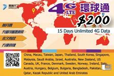 15 Day Asia Data Sim Card for China Japan Thai Korea Singapore Malaysia