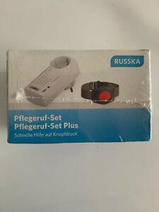 Russka Easywave Hausnotruf Funk Pflegeruf-Set Schnelle Hilfe mit Armband Sender