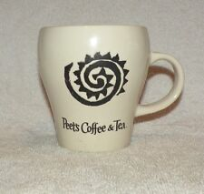 Peet'S Coffee & Tea 12 oz. Mug Cup Ivory w/ Embossed Art