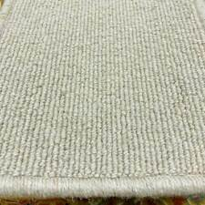 Berber Carpet Remnant Roll End In Oasis Beige Wool Loop Rib Pile 4x7m 38% OFF