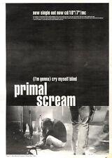 "3/12/94PGN02 SINGLE ADVERT 15X11"" PRIMAL SCREAM : (I'M GONNA) CRY MYSELF TO SLEE"