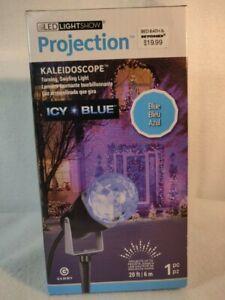 LED Light Show Projection Kaleidoscope - Icy Blue - NEW