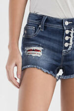 Miss Me Fly Free Butterfly Mid Shorts Sz 27 Distressed Denim MS5151H471 NWT $89