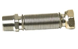 """TUBO FLESSIBILE IN ACCIAIO INOX 2000mm metallo intrecciato tubo di fornitura di acqua 2M 3//4/"""" BSP"""