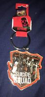 DC Comics Suicide Squad Movie Metal Badge KeyChain Keyring New