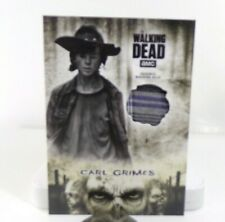 The Walking Dead Hunters The Hunted Series Carl Grimes Striped Shirt Patch Card